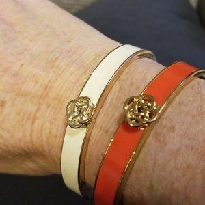 Stella & Dot two (2) enamel bangles